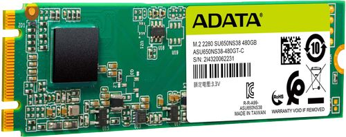 A-DATA SU650NS38 480GB M.2 SATA (ASU650NS38-480GT-C)