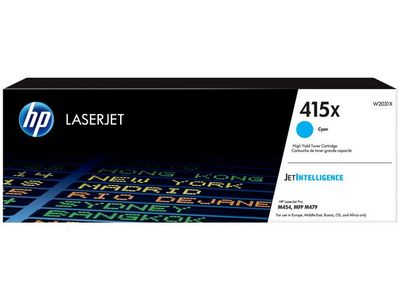 HP 415X Cyan LaserJet Toner Cartridge (W2031X)