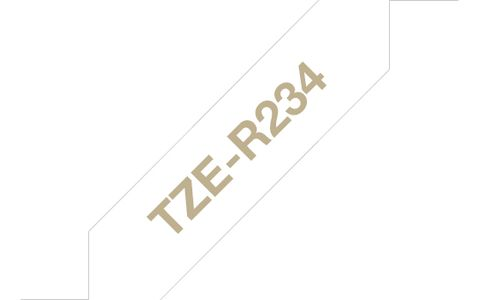 BROTHER Tape BROTHER TZE-R234 12mmx4m gull/hvit (TZER234)