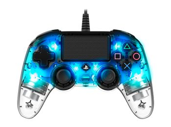 NACON Wired Illuminated Compact Controller Blue - Gamepad - Sony PlayStation 4 (3499550360806)