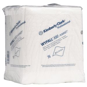 KD Industriaftørring,  Kimberly-Clark WyPall X60, 1-lags, 30, 5x31, 8cm,  hvid, nonwoven (9143*912)
