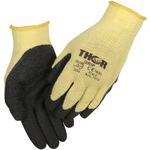 Fingerdyppet latexhandske,  THOR Grip, 7, polyester/ latex,  ribkant