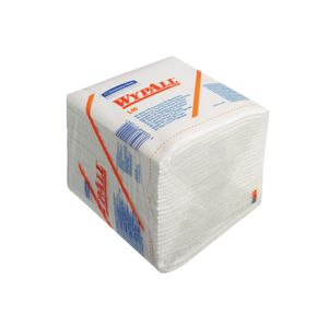 KD Industriaftørring,  Kimberly-Clark Wypall L40, 1-lags, 33x31, 7cm,  hvid, nonwoven (609803*1008)