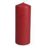 Bloklys, 18cm, Ø7cm, rød, 80 timer, 100% paraffin