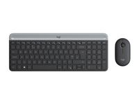 LOGITECH Slim Wireless Keyboard and Mouse Combo MK470 - GRAPHITE - PAN - NORDIC (920-009200)