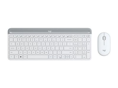 LOGITECH Slim Wireless Keyboard and Mouse Combo MK470 - OFFWHITE - PAN - NORDIC (920-009201)