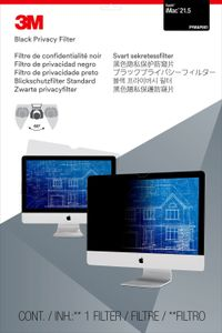 3M PFIM21V2 PRIVACY FILTER BLACK IMAC 21.5IN 2013 ACCS (98044058109)