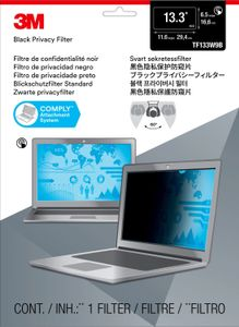 3M Touch Privacy Filter for 13.3inch Widescreen Laptop Standard Fit (TF133W9B)