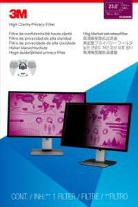 3M High Privacy Filter for 23.0i Widescreen Monitor 16:9 aspect ratio (HC230W9B)
