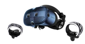 HTC VIVE Cosmos 1x HMD, 2x Controllers,  4x AA batteries,  1x linkbox, 1x USB cable, 1x HDMI cable (99HARL002-00)