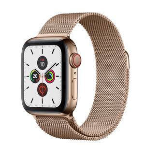 APPLE Watch Series 5 GPS + Cellular 40mm Gold Stainless Steel Case with Gold Milanese Loop (MWX72KS/A)