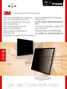 "3M Privacy Filter 18.5"" Framed (PF185W9F)"