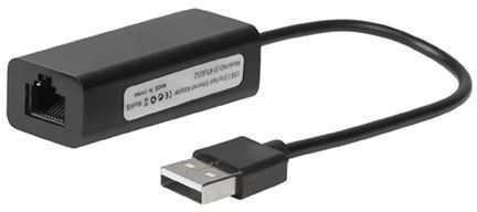 MICROCONNECT USB2.0 to Ethernet, Black (USBETHB)