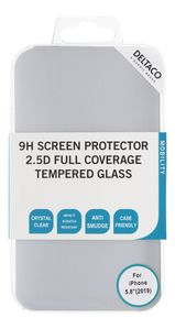 """DELTACO screen protector for iPhone 5.8"""" 2019, 3D curved full coverage (SCRN-19IP58)"""