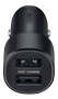 SAMSUNG car charger Dual port 15W Black