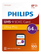 PHILIPS Micro SDXC Card 64GB Class 10 UHS-I U1 incl. Adapter
