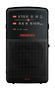 SANGEAN FM/AM handheld receiver, built-in speaker, battery, headphone