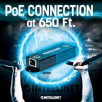 INTELLINET Gigabit PoE/PoE+ extender repeater 1-port (560962)