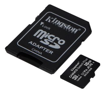 KINGSTON CanvSelect Plus 16GB microSDHC,  2-pack + 1 ADP (SDCS2/16GB-2P1A)