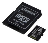 KINGSTON CanvSelect Plus 64GB microSDXC,  3-pack + 1 ADP (SDCS2/64GB-3P1A)