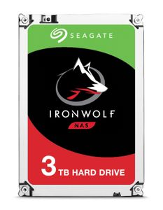 SEAGATE IRONWOLF 3TB NAS 3.5IN 6GB/S SATA 64MB (ST3000VN007)