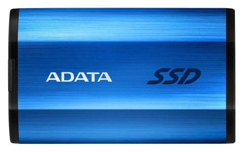 A-DATA ADATA external SSD SE800 512GB blue USB3.2 Gen2 Type-C backward compatible with USB2.0 (ASE800-512GU32G2-CBL)