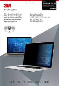 "3M PRIVACY FILTER BLACK MACBOOK PRO 15"" WIDE 16:10 RETINA (PFMR15)"