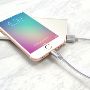 A-DATA ADATA Sync and Charge Lightning Cable, USB, MFi (iPhone, iPad, iPod), Silver (AMFIAL-100CMK-CSV)