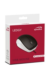 SPEEDLINK - Ledgy Mouse USB, Silent / Black-White (SL-610015-BKWE)