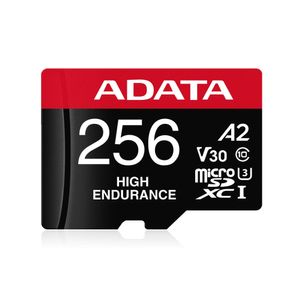 A-DATA 256GB UHS-I U3 V30S(R:100MB/ s/ W:70MB/ s) HIGH MicroSD w/adapter (AUSDX256GUI3V30SHA2-RA1)