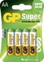 GP Super Alkaline LR6 Size AA *4-pack*