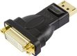 DELTACO DisplayPort til DVI-D Single Link adapter, 20-pin han - 24+5-pin hun, sort