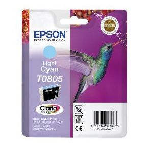 EPSON T0805 Light Cyan Ink Cartridge P50/ PX650/ PX700W/ 710W/ PX800FW/ 810FW (C13T08054011)