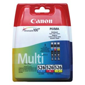 CANON CLI-526 C/M/Y MULTIPACK BLISTER COLOUR INK CARTRIDGE SUPL (4541B009)
