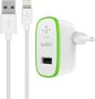 BELKIN iPad and iPhone Single Micro Car Charger 5V 2.4A with 4inch Lightning cable Black