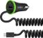 BELKIN Car Charger 3_4A with USB port _ integrated coiled micro USB Cable/ Black