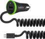 BELKIN CAR CHARGE MICRO USB (2,4A +1A USB PORT COILED BLACK)