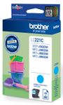BROTHER LC221C ink cyan 260 pages (LC221C)