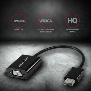 AXAGON HDMI. VGA Reduction / Adapter. FullHD Factory Sealed (RVH-VGN)