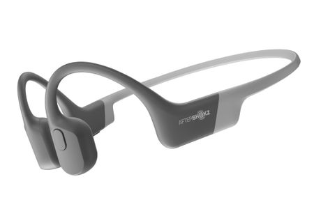 AfterShokz Aeropex hodetelefoner Bone conduction,  Open-ear design, BT, mikrofon, 8t., vanntett (IP67). Grå (470828)