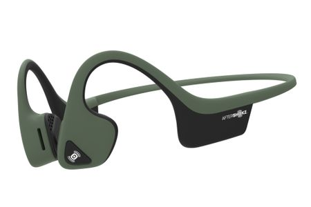 AfterShokz Air hodetelefoner Bone conduction,  Open-ear design, BT, mikrofon, 6t., vannbestandig (IP55). Grønn (470818)